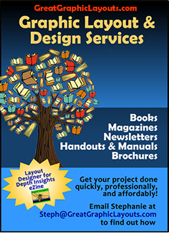 graphic layout for books, newsletters, brochures